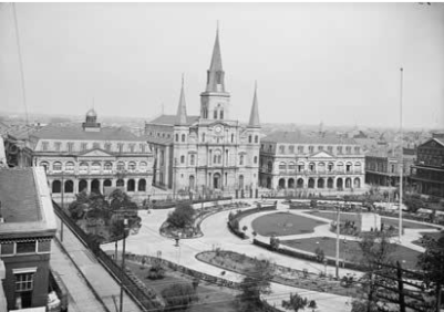 Jackson Square, The Cabildo, and The Presbytere